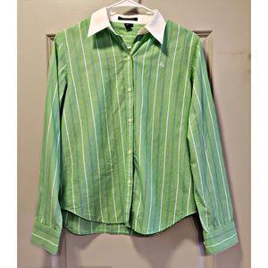 Lauren Ralph Lauren womens button down shirt.